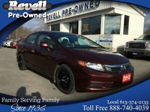 2012 Honda Civic LX  *1-owner, Moonroof, Alloys