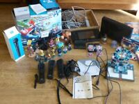 Nintendo WiiU Mario Kart Premium Pack 32GB plus 22 Games and various accessories