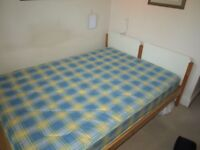 Double bed without mattress