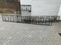 Gate and railings
