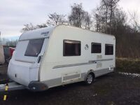 Knaus Sport 4 berth caravan. 2010. Full awning. Great condition.