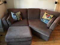 3 Piece G-Plan Sofa Suite. 2 sofas & a matching Foot Stool