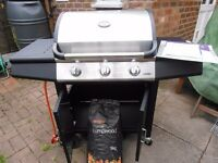"A NEW ""SAMBA"" GAS. 3 Burner . Barbecue / Smoker"
