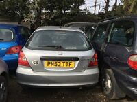 HONDA CIVIC INSPIRE S AUTO 2003- FOR PARTS ONLY