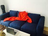 Excellent condition blue 3-seat sofa