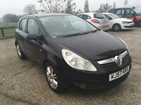 Vauxhall Corsa Design 1.2 2007 Manual 5 Door Hatchback Black