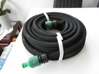 2 x unused 15m soaker hoses with connecting nozzle