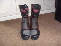 Crane Mens Motorbike Boots Size 12