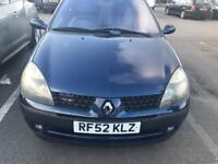 Renault Clio 1.4 Petrol 3-dr 2002 Blue Long MOT Mot £550