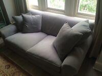 Blue/Grey fabric 2 seater Sofa