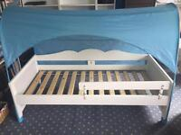 Ikea Hensvik Child's Bed, bed tent & guard rail