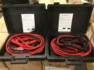 BRAND NEW LOT OF (2) HEAVY DUTY 1 GAUGE BOOSTER CABLES JUMPER CABLES 1 GA 25 FT 800 AMP