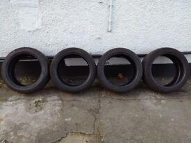 275 40 19 Tyres x 4 with 7mm tread left