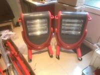 2x infa-red heaters