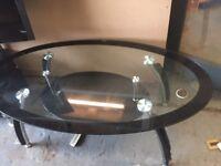 Designer Black glass coffee table