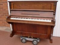 BEULHOFF german over strung re polished case satin wax rose wood £225 can deliver