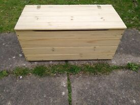Blanket Box Solid Pine with Brass Fittings.Good Condition.