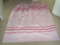 Pair of pink Next tab top lined curtains, w134cm x l 136cm