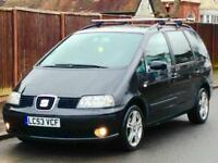 2003 SEAT ALHAMBRA 1.9 TDI LOW MILEAGE CAMBELT REPLACED LONG MOT