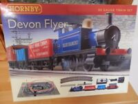 Electric oo guage train set by Hornby - Devon Flyer.