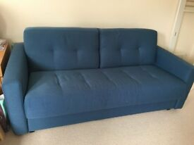 Double sofa bed, blue, Fama, excellent condition, pick-up required.