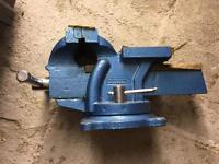 Metal vice And anvil