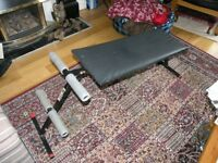 Pull Up Exercise Bench Folds Flat Weymouth