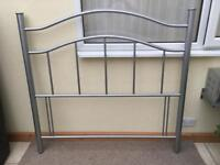 Quality Silver Double Bed Headboard