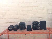 MAMIYA rb67 proS | 127mmf3.8 |180mmf4.5| 65mmf4.5 | 4 film backs| polaroid back |prism| flight case