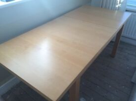 Dining Room Table M&S. Beech Laminate. Easy clean. Extending. Little Used. Very good condition.