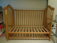 Drop side down cot cotbed with mattress