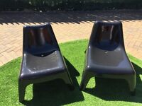 IKEA GARDEN LOUNGER CHAIRS IN GOOD CONDITION SET OF 2