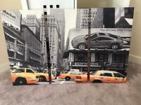 New York Yellow Cab Canvas