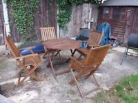 hardwood garden table and chairs patio set .... local delivery