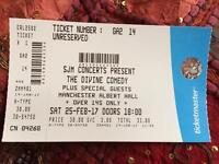 Divine Comedy Ticket 25/02/17 - Manchester