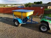 Quad atv sheep snacker feeder farm livestock tractor