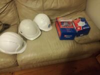 Ppe work protection 3x hard hat 2 glasses ear plugs dust mask