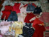 Massive bundle of 9 -12 12-18 month baby girl clothes