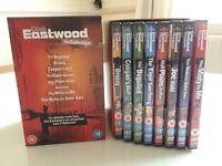 DVD BOX SET - CLINT EASTWOOD- AS NEW- 8 FILMS