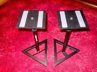 MILLENIUM BS-500 (x2) NEARFIELD MONITOR STANDS - ASSEMBLED BUT UNUSED - UNMARKED £35