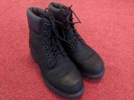 """Timberland Earthkeepers 6"""" Boots Women's Black Suede/Nubuck (Size 4 UK) With Box"""