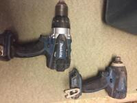 Makita 18v combi drill and impact driver