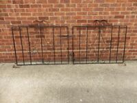 Decorative steel driveway and garden gates with all necessary fittings