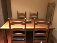 Corona Mexican Pine Dining Table
