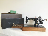 Singer 99K Heavy Duty Hand Crank Sewing Machine - SEWS LEATHER - Superb Condition