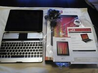 ANDROID TABLET+MATCHING BLUETOOTH KEYBOARD+BOXED AND AS NEW CONDITION