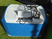 Camping Fridge / Coolbox - Halfords 40 litre 12v and 230v Electric - Ex display & perfect condition.