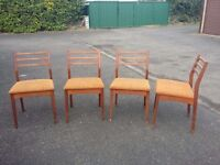 4 retro g-plan dining chairs ideal project to upcycle