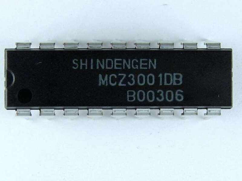 MCZ3001DB - Shindengen Brand Monolithic IC, 18 Pin DIP, Sony# 670581001, New