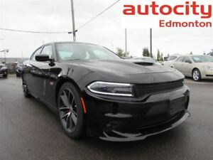 2017 Dodge Charger SCAT PACK SRT8 6.4L HEMI BLACK ON BLACK!